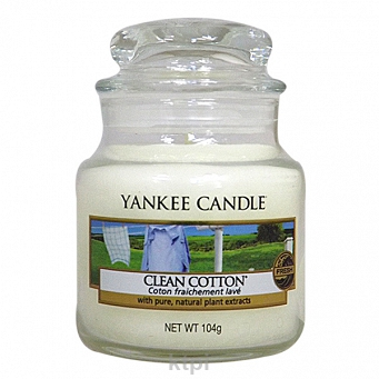 YANKEE CANDLE ŚWIECZKA CLEAN COTTON 104 g