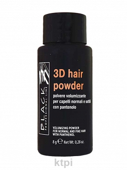 BLACK 3D HAIR POWDER PUDER NA OBJĘTOŚĆ 8 g